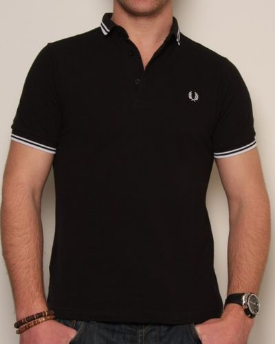 Fred Perry Small Collar Polo Shirt Black