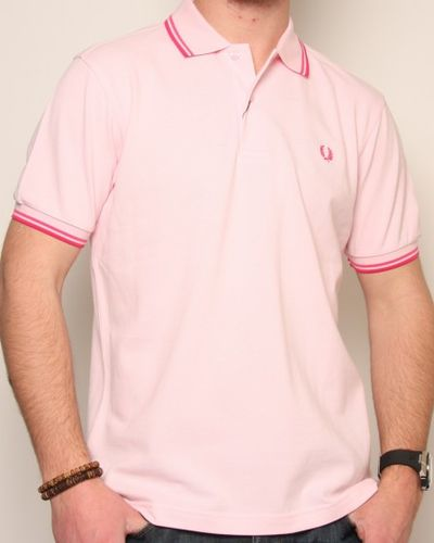 Fred Perry Twin Tipped Polo Shirt Soft Pink