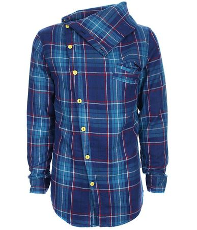 Humor Ford Cowlneck Checked Shirt