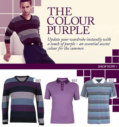 Jaeger Menswear Purple Clothing