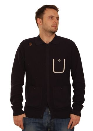 Luke 1977 Navy Knocking Shop Cardigan