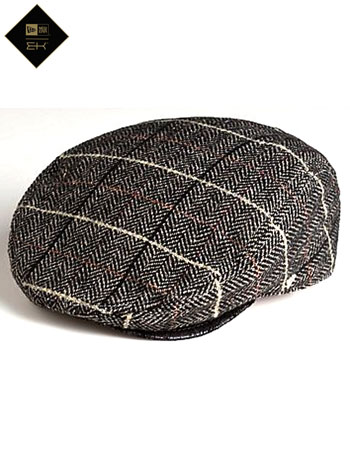 New Era Caldwell Gatsby Tweed Flat Cap