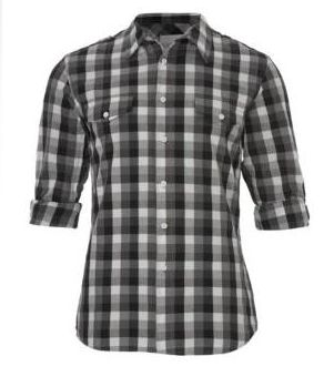 New Look Rolled Up Checked Shirt