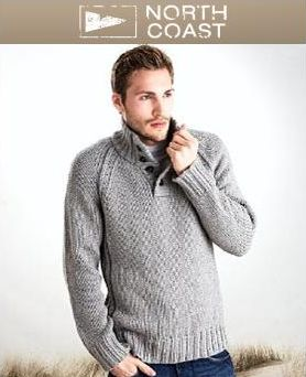 North Coast Funnel Neck Chunky Knit Jumper