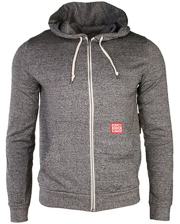 Obey Staple Zip Hoodie. The Obey Staple Zip Hoody in Heather Grey, Super soft, 100% Cotton sweatshirt, Heathered Fabric design, Full contrast white zip and