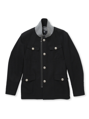 Peter Werth Black Military Jacket