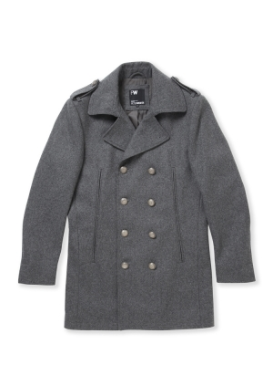 Peter Werth Silver Reefer Coat