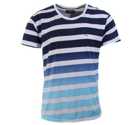 Religion Fading Stripe T-Shirt