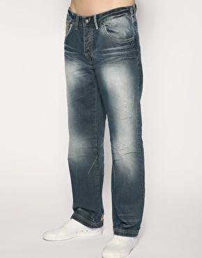 Ringspun Twain Set Straight Abrasion Jeans