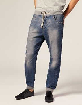 River Island Light Wash Jean Jogger