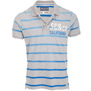 Soul Cal Deluxe Stripe Polo T-Shirt