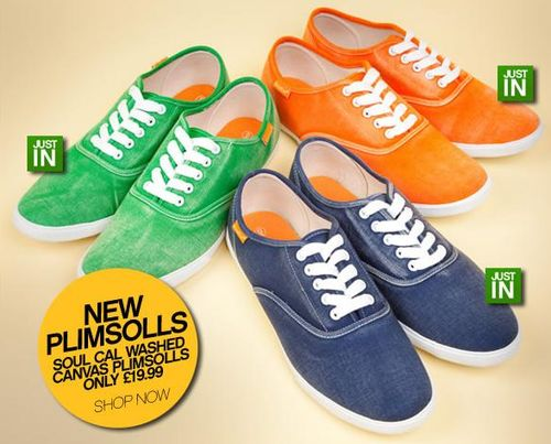 Soul Cal Washed Canvas Plimsolls