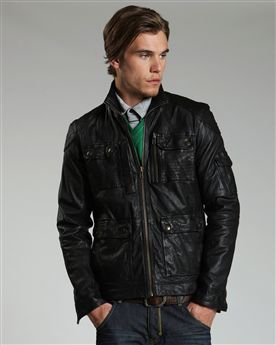 Ted Baker Litner Leather Jacket