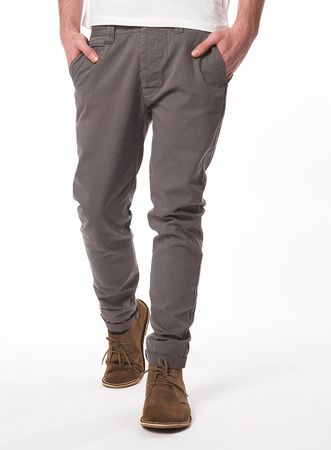 Topman Grey Cotton Skinny Chinos