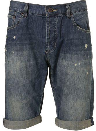 Topman Mid Blue Denim Shorts