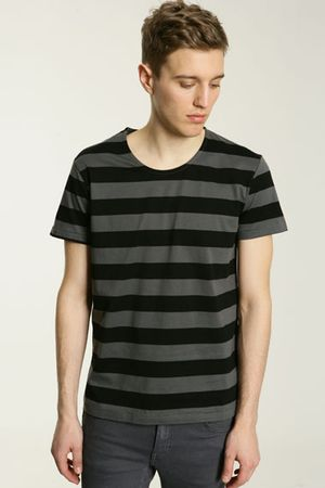 Won Hundred Black Miles Stripe T-Shirt