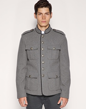 ASOS Military Funnel Neck Jacket