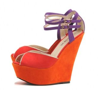 AX Paris Bright Peep Toe Wedge