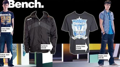 Bench Mens Clothing