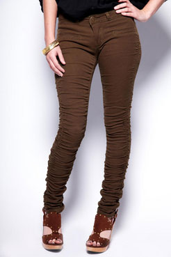 Boohoo Emme Rouched Side Jeggings
