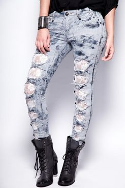 Boohoo Lexanne Lace Insert Jeans