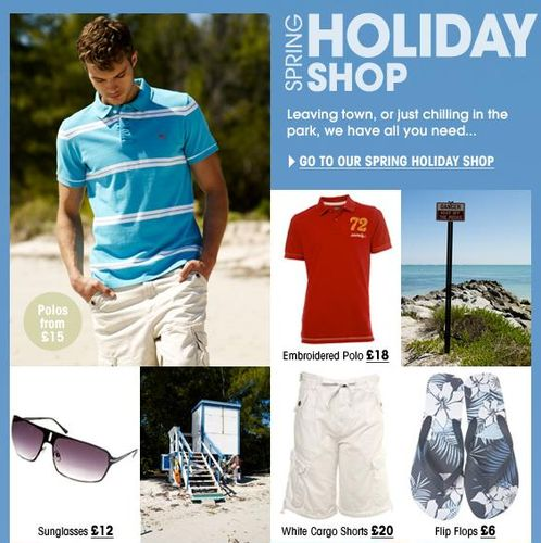 Top mens fashion retailer Burton has created a holiday shop packed