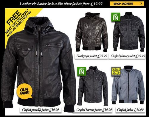 Crafted Mens Biker Jackets