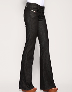 Diesel Clean Black Louvely Bootcut Jeans