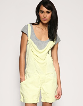 Diesel Dungaree Linen Mix Playsuit