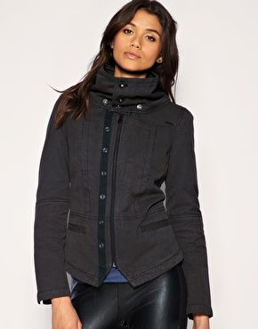 Diesel Seamed Funnel Neck Jacket