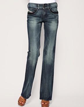 Diesel Sequin Trim Ronhar Bootcut Jeans