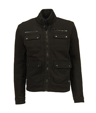Diesel Jatit Jacket. Long sleeve cotton biker jacket by Diesel, ...