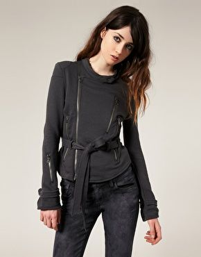 Diesel Sweatshirt Style Biker Jacket