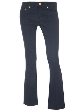 Dorothy Perkins Indigo Bootcut Gold Button Jeans