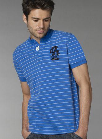 Drift King Blue Striped Baseball T-Shirt