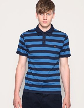 Farah Vintage The Arnage Stripe Polo Shirt