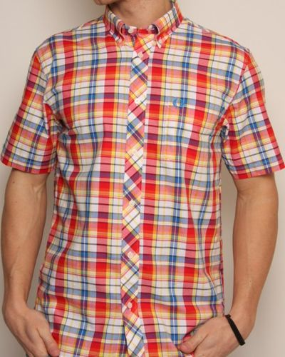 Fred Perry Short Sleeve Madras Check Shirt