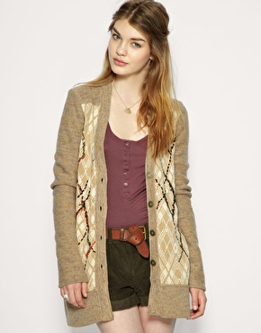 Free People We The Free Oversized Argyle Knit Cardigan