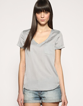 Gap Neck Silk T-Shirt