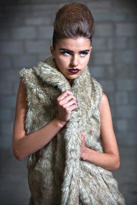 Glamorous Faux Fur Long Gilet.