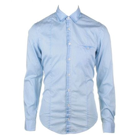 Hugo Boss Orange Coenne Fine Stripe Blue Shirt