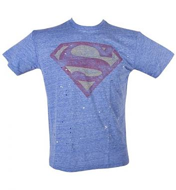 Junk Food Superman Splatter Triblend T-Shirt