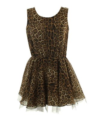 Leopard Dress on Love Leopard Print Tutu Skirt Dress   Leopard Print Dress Featuring A
