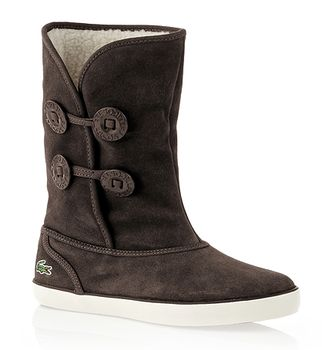 Cool Lacoste Women39s Baylen Lace Up Boot High Shaft Suede Faux Fur Lining