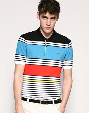 Lacoste Tipped Multi Stripe Polo Shirt