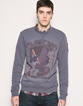 Levis Product With Roots Crew Neck Poster Sweat
