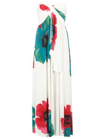 Lila Flower Maxi Dress