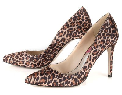 Lipsy Pointy Court Shoe . Embrace the animal print trend with these