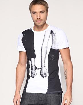 Mango Cuff Printed T-Shirt