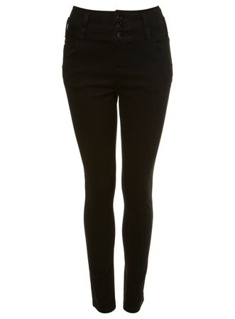 Miss Selfridge Black High Waisted Jeans